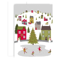 Whimsical Village Holiday Collection Boxed Holiday Cards