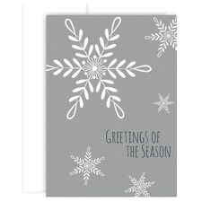 Winter Snowflake Holiday Collection Boxed Holiday Cards