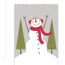 Cozy Snowman Holiday Collection Boxed Holiday Cards