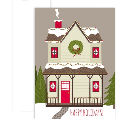 Cozy House Holiday Collection Boxed Holiday Cards