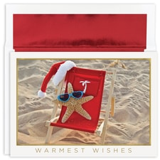 Starfish Santa Warmest Wishes Boxed Holiday Card