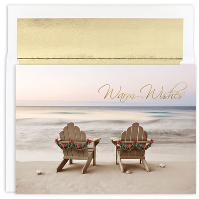 Beach Chair Holiday Warmest Wishes Boxed Holiday Card