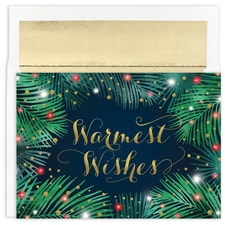Palms & Lights Warmest Wishes Boxed Holiday Card