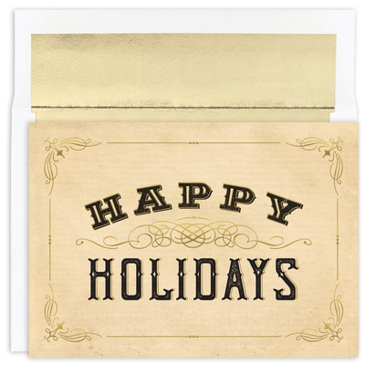 Western Style Holidays Warmest Wishes Boxed Holiday Card