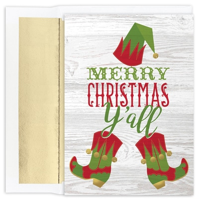 Y'all Elf Warmest Wishes Boxed Holiday Card