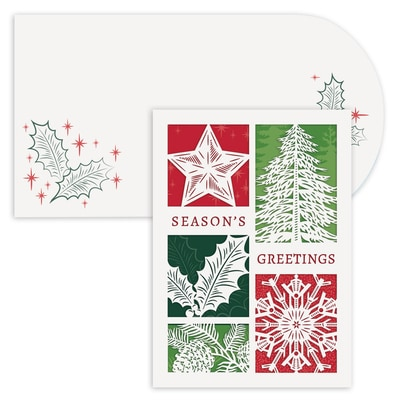 Holiday Elements Holiday Collection Laser Cut Boxed Holiday Card