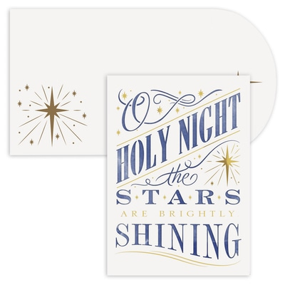 Holy Night Holiday Collection Laser Cut Boxed Holiday Card