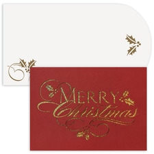Merry Christmas Holiday Collection Laser Cut Boxed Holiday Card