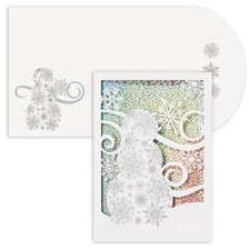 Sparkle Snowman Holiday Collection Laser Cut Boxed Holiday Card