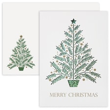 Christmas Tree Laser Cut Holiday Collection Boxed Holiday Card