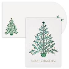 Christmas Tree Holiday Collection Laser Cut Boxed Holiday Card