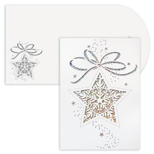 Star Ornament Holiday Collection Laser Cut Boxed Holiday Card