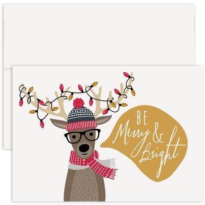 Reindeer Games Holiday Collection Made in USA Boxed Holiday Card
