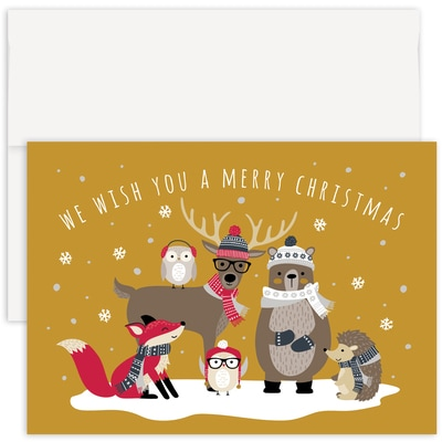 Woodland Friends Holiday Collection Made in USA Boxed Holiday Card