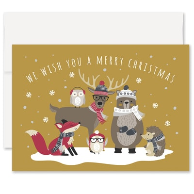 Woodland Friends Laughter & Joy Boxed Holiday Card