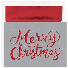 Merry Christmas Sparkle Holiday Collection Boxed Holiday Card
