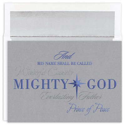 Mighty God Holiday Collection Boxed Holiday Card