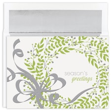 Greenery Wreath Holiday Collection Boxed Holiday Card