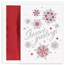 Snowflakes Holiday Collection Boxed Holiday Card