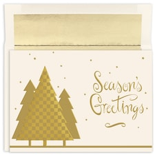 Checkerboard Tree Holiday Collection Boxed Holiday Card