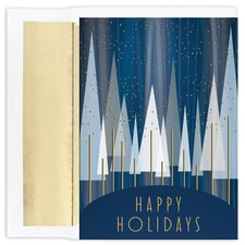 Contemporary Trees Holiday Collection Boxed Holiday Card