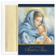 Madonna & Child  Holiday Collection Boxed Holiday Card