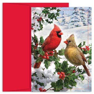Cardinal Couple Holiday Collection Boxed Holiday Card