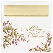 Golden Berries Holiday Collection Boxed Holiday Card