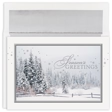 Snowy Trees Greetings Holiday Collection Boxed Holiday Card
