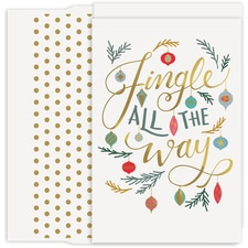 Jingle All The Way Holiday Collection Petites Boxed Holiday Card