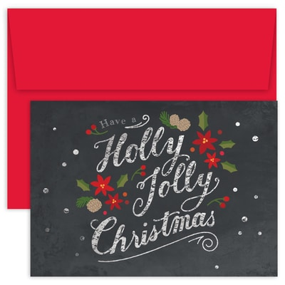 Holly Jolly Christmas Holiday Collection Boxed Holiday Card