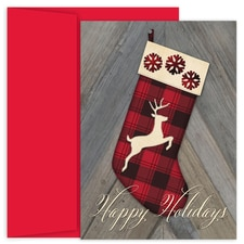 Woodland Stocking Holiday Collection Boxed Holiday Card
