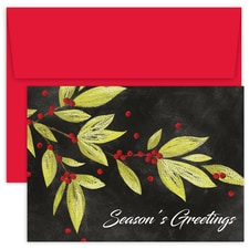 Berry Branches Holiday Collection Boxed Holiday Card
