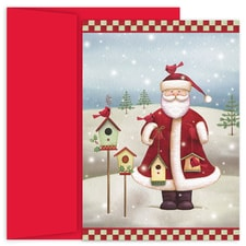 Santa's Birdhouses Hollyville Boxed Holiday Card