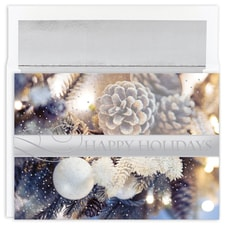 Glittering Pines Holiday Collection Boxed Holiday Card