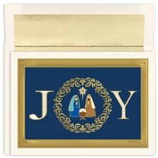 Joy Nativity Holiday Collection Boxed Holiday Card