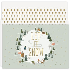 Let It Snow Holiday Collection Petites Boxed Holiday Card
