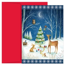 Creatures Great and Small Hollyville Boxed Holiday Card