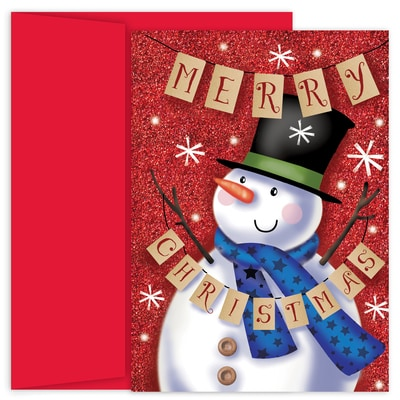 Banner Snowman Holiday Collection Boxed Holiday Card
