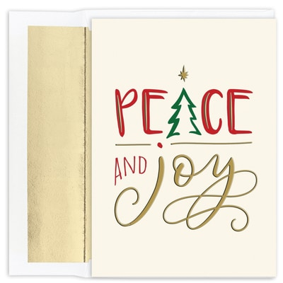 Peace and Joy Holiday Collection Boxed Holiday Card
