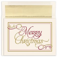 Merry Christmas Flourish Holiday Collection Boxed Holiday Card