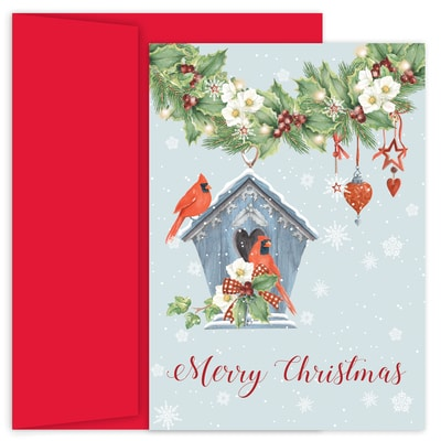 Cardinal Christmas Hollyville Boxed Holiday Card