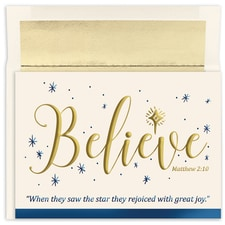 Believe Holiday Collection Boxed Holiday Card