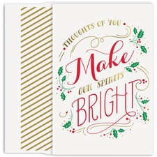 Make Spirits Bright Holiday Collection Petites Boxed Holiday Card