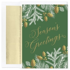 Greenery Greetings Holiday Collection Boxed Holiday Card