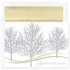 Glitter Trees Holiday Collection Boxed Holiday Card