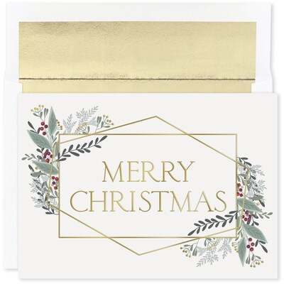 Modern Christmas Holiday Collection Boxed Holiday Card