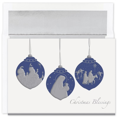 Christmas Blessings Ornaments Holiday Collection Boxed Holiday Card