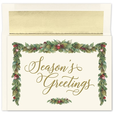 Seasons Beauty Holiday Collection Boxed Holiday Card