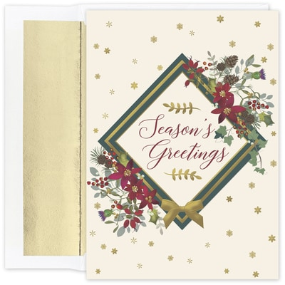 Seasons Floral Holiday Collection Boxed Holiday Card